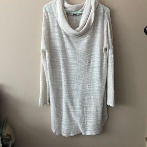 Free People Cowl Neck Tunic Sweater/Sweater Dress